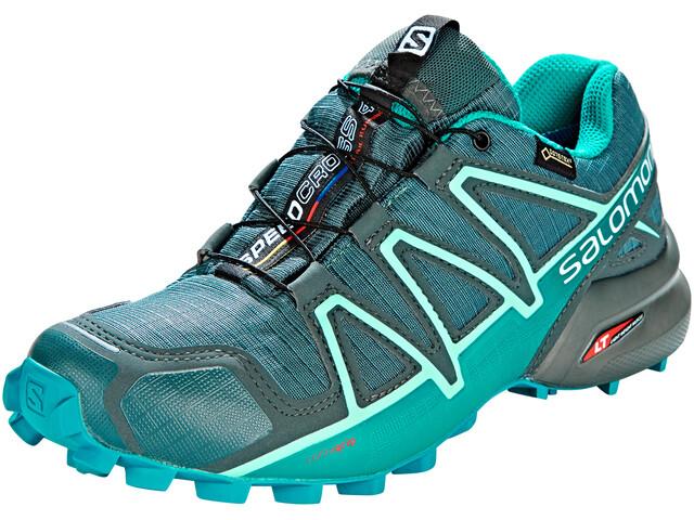 Salomon Speedcross 4 GTX - Zapatillas running Mujer - gris/Azul petróleo